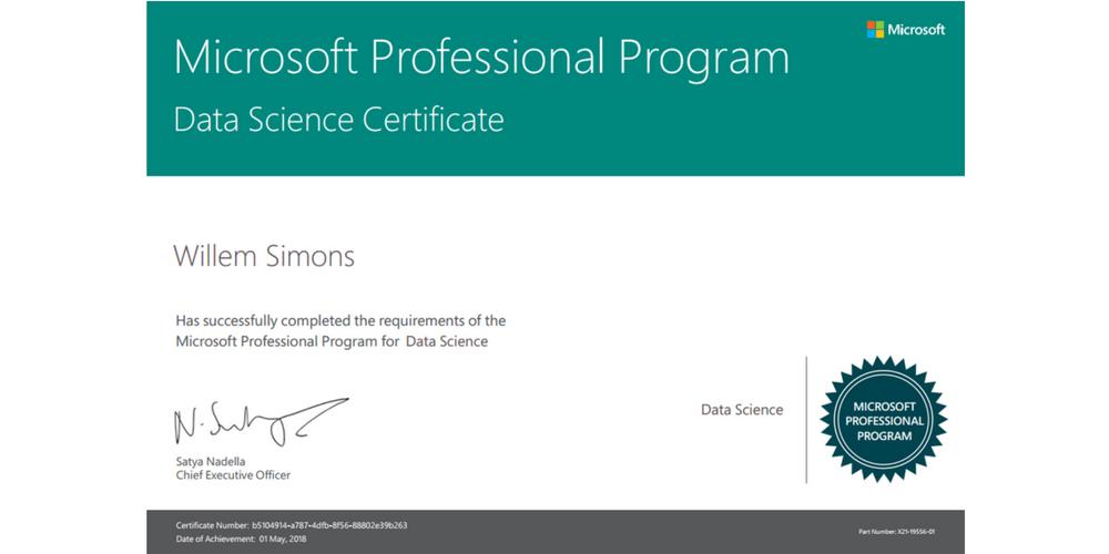 Data Science Track of the Microsoft Professional Program