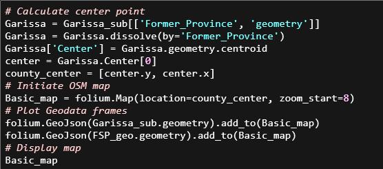 Python code for single color Folium map