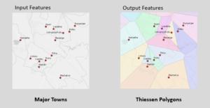 Proximity: Create Thiessen Polygons tool